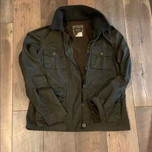 J.Crew waxed cotton brown classic jacket